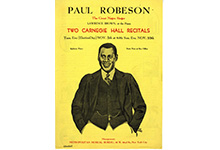 Paul Robeson at Carnegie Hall, 1929