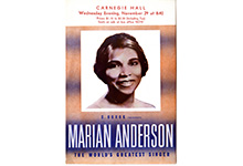 Marian Anderson at Carnegie Hall, 1939